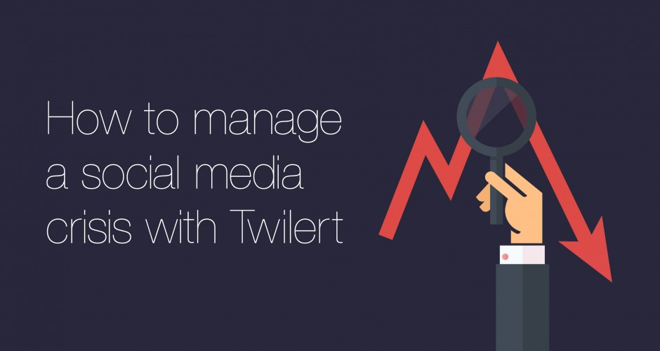 Banner for the blogpost how to manage a social media crisis with Twilert