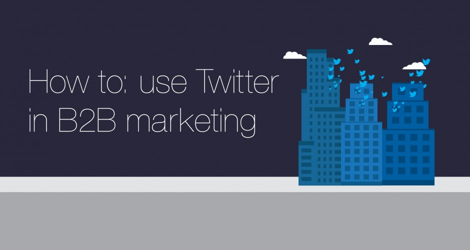 how to use twitter in B2B marketing banner