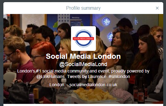 An optimised Twitter bio that could gain you more followers