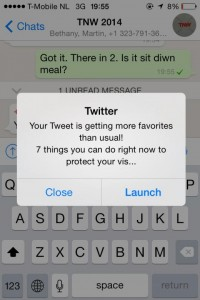 Significant engagement notifications on Twitter
