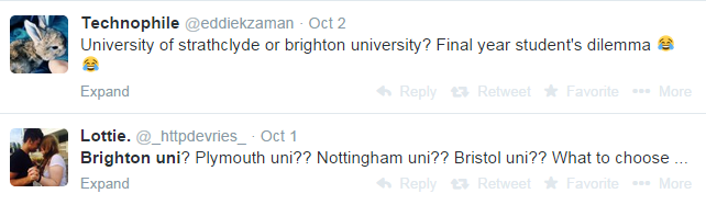 Brighton Uni and how they generate leads from Twitter Search
