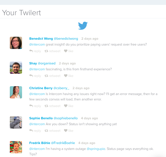 Twitter competitor search using question marks