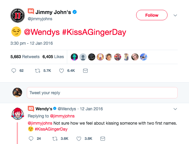 Wendy's tweet example