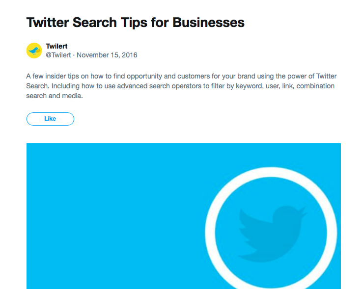 Twitter moment example