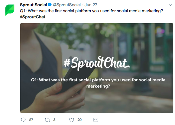 Sprout social twitter chat