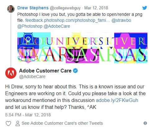 5 ways to use Twitter - Customer service tweet example from @AdobeCare